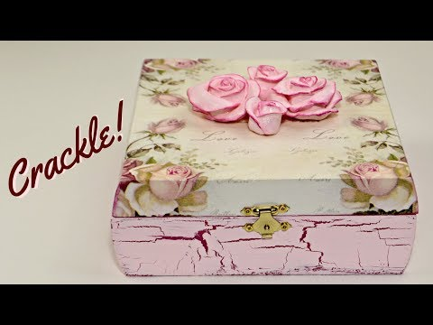 DIY Storage Box | Decoupage And Crackle With Elmer's Glue