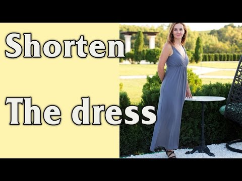 How to Shorten and Hem a Dress (Skirt) or a T-shirt