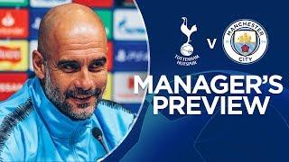 Raheem Sterling and Pep Guardiola | Spurs v Man City, Press Conference