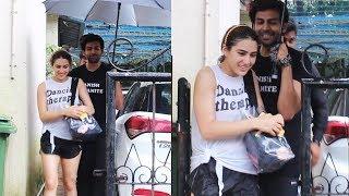 Love Aaj Kal Jodi Sara Ali Khan Along With Kartik Aaryan Spotted At Dance Rehearsal Hall Juhu