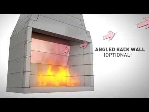 FireRock Pre Engineered Masonry Fireplace