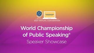 World Championship of Public Speaking®: Speaker Showcase
