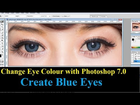 Change Eye Colour with Photoshop to Create Blue Eyes