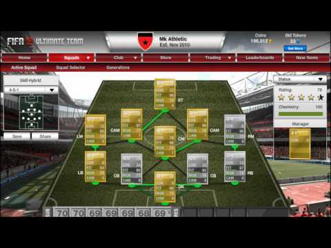 Fifa 12 Ultimate Team - How to make a Hybrid Team