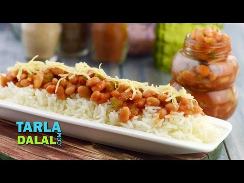 Baked Beans with Buttered Rice by Tarla Dalal
