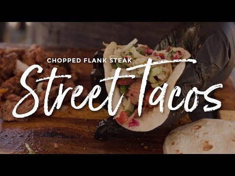Chopped Flank Steak Street Tacos at the 2017 American Royal