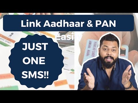 How To Link Aadhaar & PAN With Just ONE SMS! [Hindi]