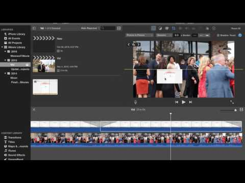 Slide In/Slide Out A Picture in iMovie (EASY)