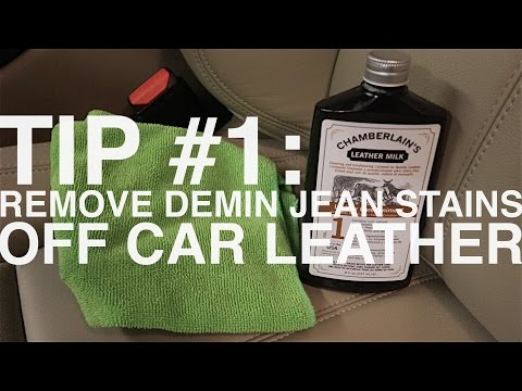 TIP #1 - Remove Denim Jean Rub Stains Off Light Car Leather Interior