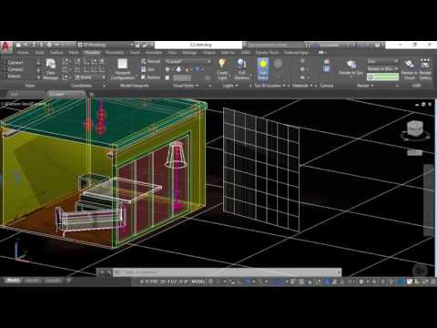 Rendering with a Sun and Exterior Lights in AutoCAD