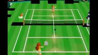 Mario Tennis 64, Daisy vs Peach  (GLITCHY EMU!)