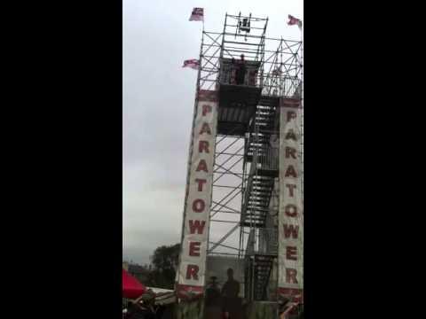 Paras training tower jump