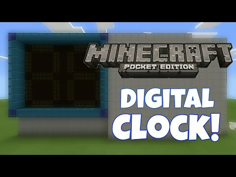 REDSTONE DIGITAL CLOCK (Preview) | MCPE 0.15.4 (My biggest contraption ever!)