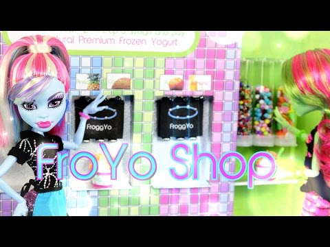 DIY - How to Make:  Doll FroYo Shop - Handmade - Doll - Crafts