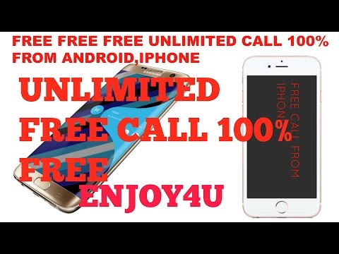 ANDROID AND IPHONE,FREE UNLIMITED CALL 100% FREE  MOBILE PHONE (NO CREDIT) 2016