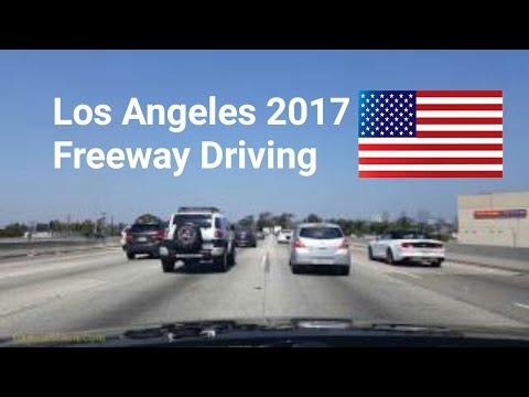 Dash Cam Tours🚘 - Los Angeles, California, USA, 10 freeway driving