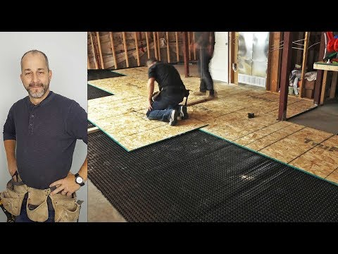 DIY How to Install a Basement Subfloor