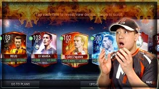I BEAT THE GAME!! WE GOT DOM DI MARIA,CHAMPS GRIEZMANN, MASTER REUS, BLUE STAR HAZARD!! FIFA Mobile