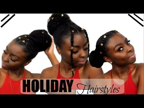 3 Holiday Hairstyles Under 5 Minutes!   Hair Jewel Edition