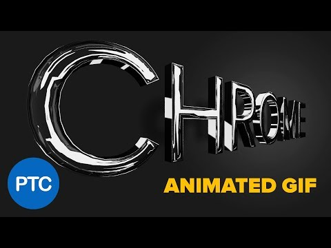 Make a 3D CHROME TEXT Effect and Turn It Into a Rotating ANIMATED GIF - Photoshop Tutorial