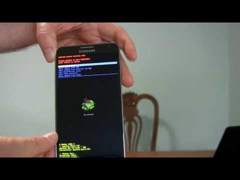 Galaxy Note 3- How to Factory Reset via Hardware buttons