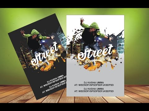 Fantastic Flyer Design (Dance Party) CorelDraw X6 X7 X8  Tutorial