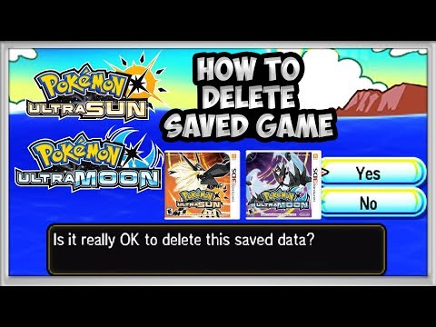 How To Delete Saved Game in Pokémon Ultra Sun & Ultra Moon Tutorial. @Poijz