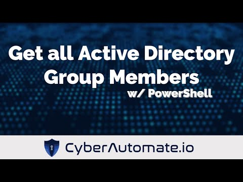 Get members of all Active Directory Groups with PowerShell