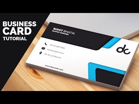 business card design in photoshop cs6 tutorial  Learn Photoshop | Back