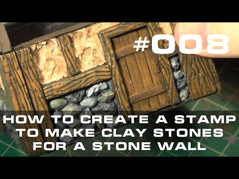 008 - How to Create a Mold to Produce Clay Stones for a Stonewall