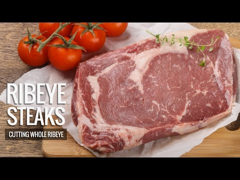 Trimming Whole Rib eye - Cutting Rib eye Steaks