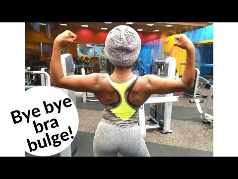 How I burn my back fat & build muscle|BODY AFTER BABY