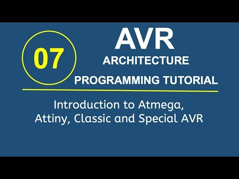 Embedded Systems Programming with AVR 7- Introduction to ATmega ATtiny Classic and Special AVR