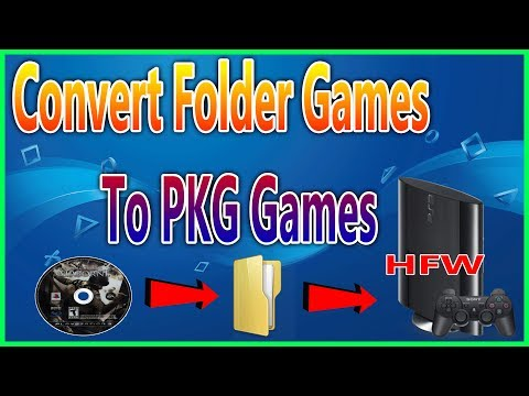 How To Convert PS3 Folder Games to PKG For All Han Exploited PS3