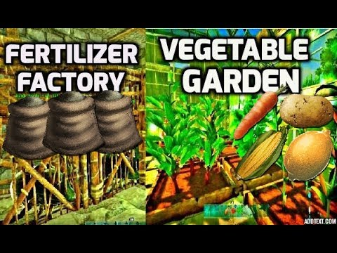 ARK Vegetable Garden and Fertilizer Factory Tour -FAST & EASY-