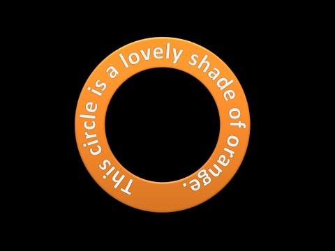 Create Text as a Circle Shape