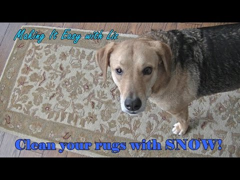 CLEAN YOUR RUGS with SNOW!
