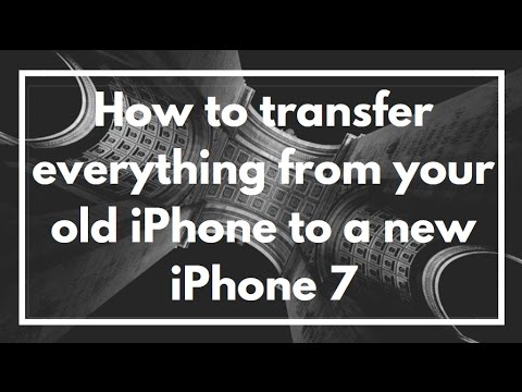 How to transfer everything from your old iPhone to a new iPhone 7 | VIDEO TUTORIAL
