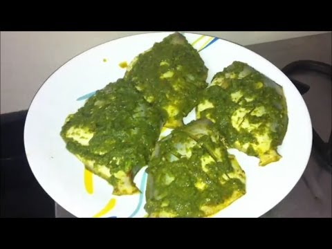 Pomfret Fry Green Masala Fish Fry Recipe / Steamed / Fried Pomfret Fish Green Masala