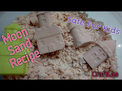 How To Make Moon Sand At Home For Kids | CraftLas