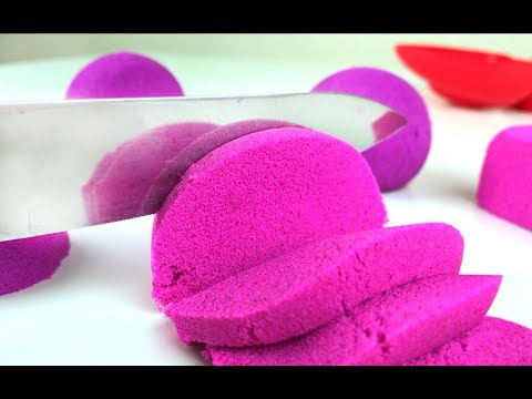 Satisfying Kinetic Sand Cutting Videos Compilation. Let's Play Kids.