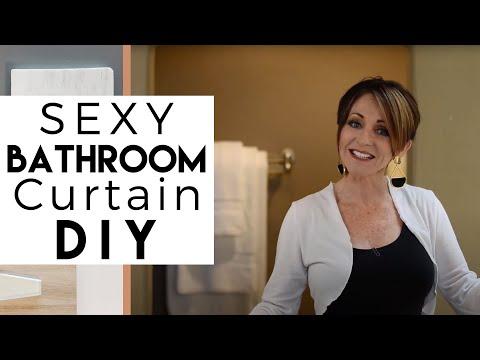 Interior Design | DIY | Sexy Bathtub Curtain