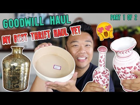 MY BEST THRIFT HAUL YET   PART 1 OF 2   GOODWILL HAUL EP. 293