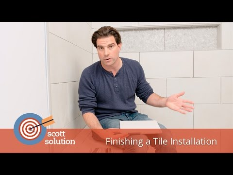 Finishing a Tile Installation