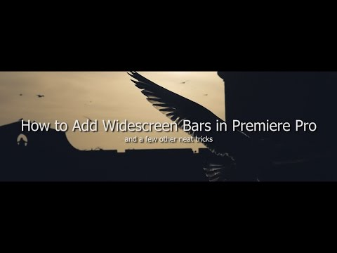How to Add Widescreen Bars in Premiere Pro (Basic to More Advanced)