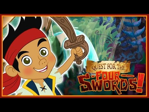 Jake And The Neverland Pirates: Quest For the Four Swords - Disney Junior App Game