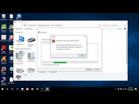 Two ways fix the local print spooler is not running in windows 10