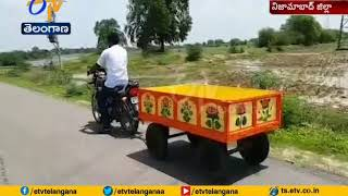Man Makes Mini Trolley | to Escape from Heavy Expenses | at Renjal