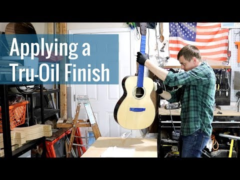 Applying a Tru-Oil Finish (Ep 23 - Acoustic Guitar Build)