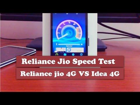 Reliance Jio Speedtest - reliance jio 4g vs idea 4g